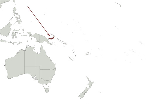 New Britain Goshawk distribution range map