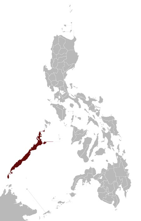 Palawan Frogmouth distribution range map