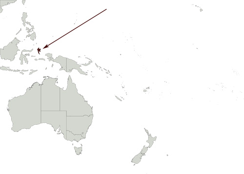 Moluccan Hanging Parrot distribution range map