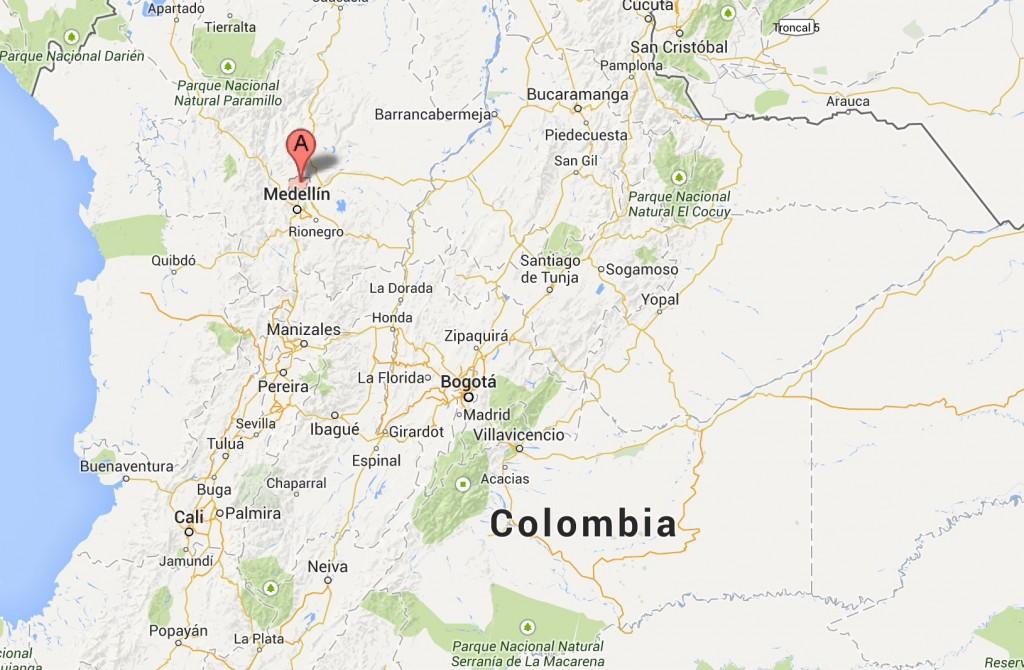 Antioquia Brush-finch - Atlapetes blancae map