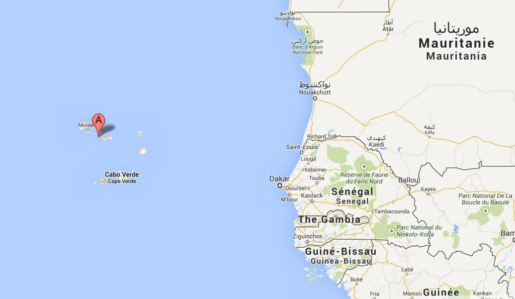 Raso Lark (Alauda razae) map